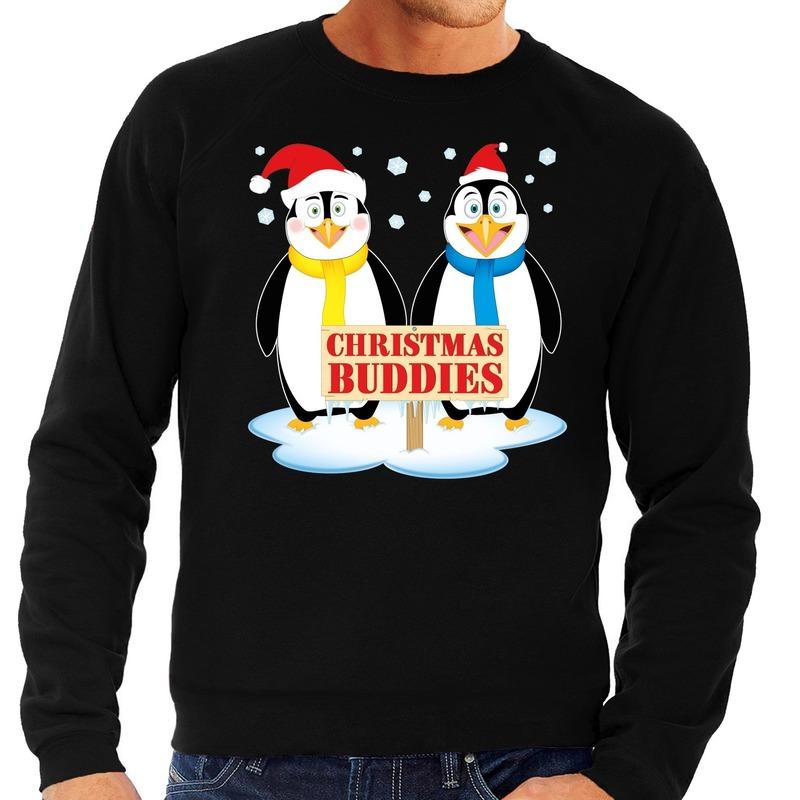 Foute Kersttrui Pinguin.Bestel Foute Kersttrui Pinguin Vriendjes Zwart Heren In De Winter Winkel