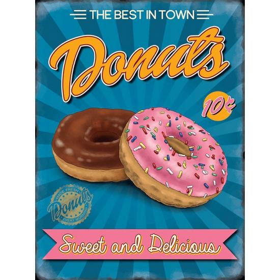 3edd3f00b8ce27 Bestel Grote muurplaat Donuts 30x40cm in de winter winkel
