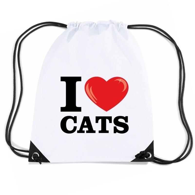 rijgkoord katten Bestel cats in rugzak met wit Nylon poezen love I qSSgUI7zw