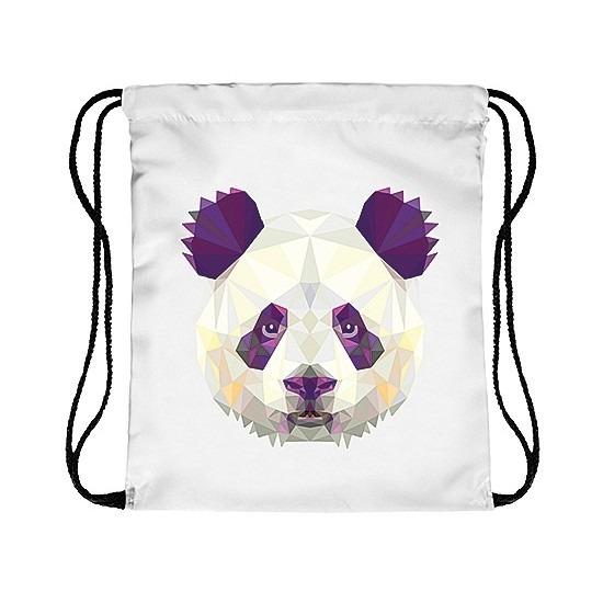 en met de Bestel in print panda winkel winter rijgkoord Rugtas 04qwxw5g
