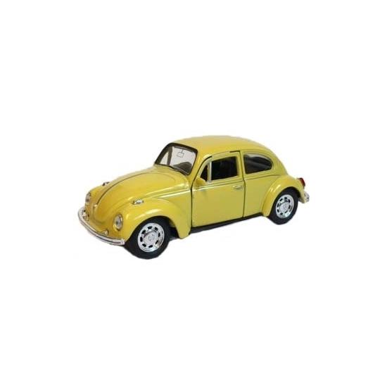 Bestel Speelgoed Volkswagen Kever Gele Auto 12 Cm In De Winter Winkel