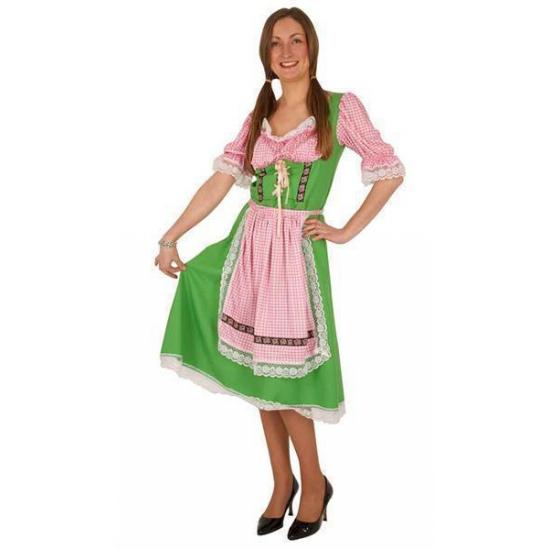 Bestel Oktoberfest Tiroler Jurk Groen Met Roze In De Winter Winkel